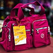 Дорожная сумка Asiapard 37х16х20см розовая фото