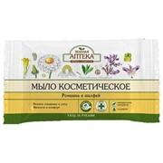 Мыло Зелёная аптека с экстрактом ромашки и шалфея 75 мг фото