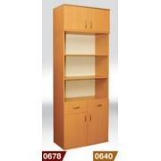 Купить книжный шкаф с 2 ящиками 2-дверный 802*403*2186 мм (380 внутр.) с антресолью, Книжный шкаф с антресолью купить украина, Код: 0678 фото