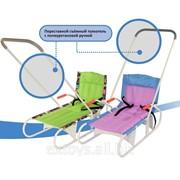 Санки детские складные ДЭМИ СДС.06 (съемный переставной толкатель) фото