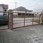 Въездные ворота фото