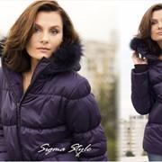 Зимняя куртка «АЛЯСКА «ТЁМНЫЙ ФИОЛЕТ» женская фото