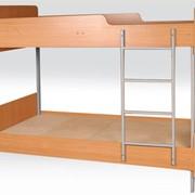 Ліжко 2-ярусне на металевому каркасі фото