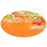 Тарелка LuminarcPOP FLOWERS Orange 25 см/6 шт фото