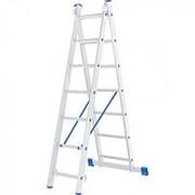 Сибртех Лестница, 2 х 7 ступеней, алюминиевая, двухсекционная, Россия, Сибртех фото