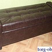 Банкетка (пуфик) с сиденьем с ящиком в прихожую, для обуви, для магазина, в спальню, мягкая PF-140 фото