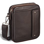 Оригинальная сумка через плечо mini-формата BRIALDI Montone (Монтоне) relief brown фото
