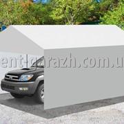Быстровозводимый тент-ГАРАЖ для стоянки автомобиля из ПВХ ткани фото