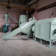 Линия брикетирования биомассы. фото