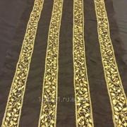 Ткань Шёлковая тесьма с вышивкой бисером, арт. 6815 фото