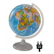 Глобус политический, 21 см, с подсветкой, на кругл. подст. (Глобусный мир) фото