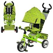 Велосипед М 5363-2-1 Eva Foam три колеса колясочный зеленый фото
