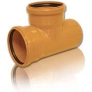 Тройники ПВХ ф200х200х90* для канализационных труб фото