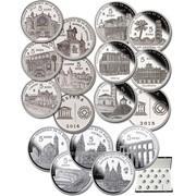 Города Испании во Всемирном наследии UNESCO - Набор из 15 серебряных монет фото