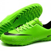 Футбольные сороконожки Nike Mercurial Victory IV Turf Lime/Black фото