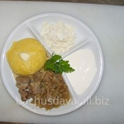 Мамалыга с брынзой в ресторане Bachus Dava фото