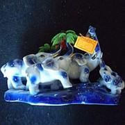 Сувенир Стадо слонов 4403 22х13 см. фото
