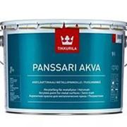 Tikkurila Panssari Akva, полуматовая краска для металлических крыш, База А, 9 л. фото