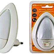 "Ночник 272073 TDM SQ 0357-0012 ""Яйцо"", с выключателем, свет белый, см_6,5*9,5, 0,5 Вт, 220v ( цена за 1 шт.) фото"