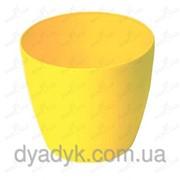 Кашпо Магнолия с подставкой 155*137мм, Жёлтый фото