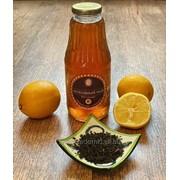 Холодный чай Черный с лимоном фото