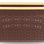 Корзина для белья 36л прямоугольная коричневая фото