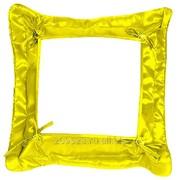 Подушка сублимационная с наволочкой (Золото) 32х32см фото