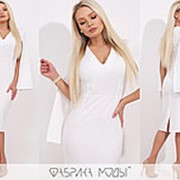 Платье женское с рукавами клеш FL/-1380 - Белый фото