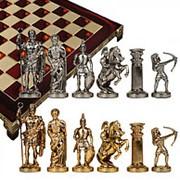 """Шахматы """"Античные войны"""" 44х44см. арт.MP-S-10-44-RED фото"""
