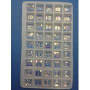 Стразы пришивные стекло 1уп - 45шт фото