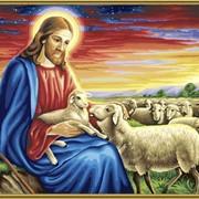 Раскраска по номерам Добрый пастырь фото