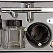 MACTAK 678-108 АЭРОГРАФ верхний бак, сопло 0,3 мм, с принадлежностями 8 предм. фото