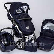Детская универсальная коляска Dada Paradiso Group DPG Romance 3 в 1 цвет синий фото