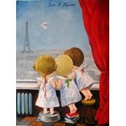 """Картина """"Утро в Париже"""" фото"""