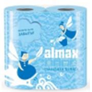 Туалетная бумага ALMAX 2-сл ГОЛУБАЯ (4рул/упак) (16упак/пак) фото