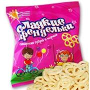 Сладкие крендельки сахарная пудра и корица в упаковке фото