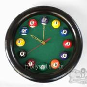 Бильярдные часы круглые фото