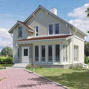 Дома каркасные деревянные Дом по канадской технологии. Панельное домостроение. Дома каркасные деревянные фото