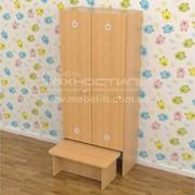 Шкаф двух секционный с лавкой фото