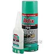 Клей двухкомпонентный универсальный - Клей двухкомпонентный универсальный 200 ml +65 g, Akfix фото