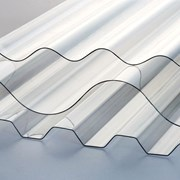 Прозрачный шифер Salux 146/48, листы трапеция ( МП20 ). Рулонный пластик волновой. Доставка по всей области №213 фото
