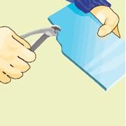 Отламывание куска плитки криволинейного очертания фото