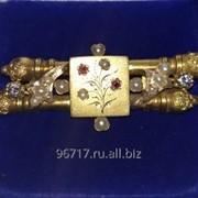 Золотая брошь, XIX век Российская Империя фото