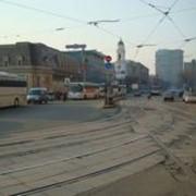 Выезд на встречные трамвайные пути фото