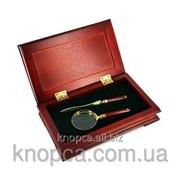 Набор подарочный нож для конвертов, лупа фото