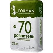 Ровнитель на цементной ФОРМАН/ FORMAN №70 основе самоуплотняющийся 25 кг фото