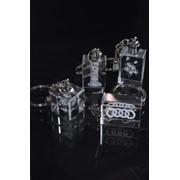 Сувениры из стекла, Лазерная гравировка в кристаллах. фото