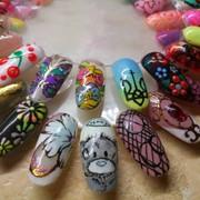 Наращивание ногтей, маникюр и покрытие гель-лаком с дизайном, make-up фото