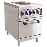 Плита электрическая ЭП-2ЖШ двухконфорочная с жарочным шкафом (лицевая нерж, серия 900) фото