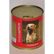 Dog Lunch 750г конс. Влажный корм для взрослых собак Говядина в желе фото